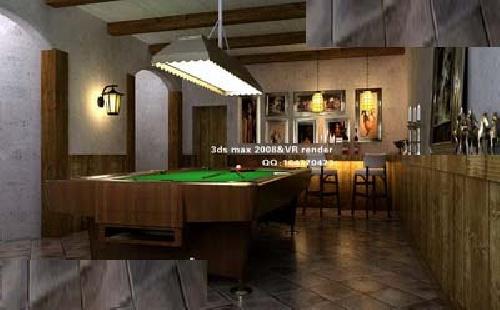 فایل مکس داخلی اتاق بازی بیلیارد