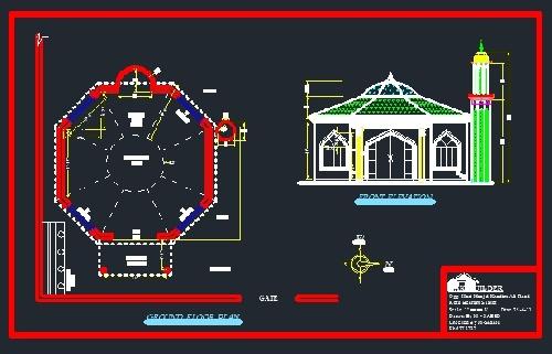 پلان مسجد (تیپ 12)