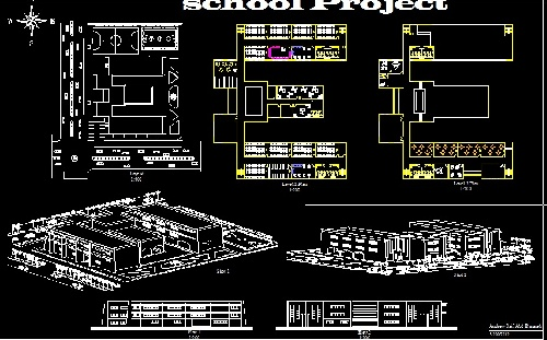 مدرسه ابتدایی تا متوسطه از پلان تا پرسپکتیو